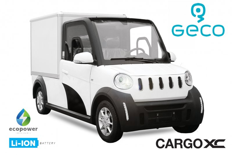 EEC Elektroauto Geco CARGO XC Koffer 7.5kW inkl. 72V 140Ah Lithium Batterie Straßenzulassung Kofferaufbau