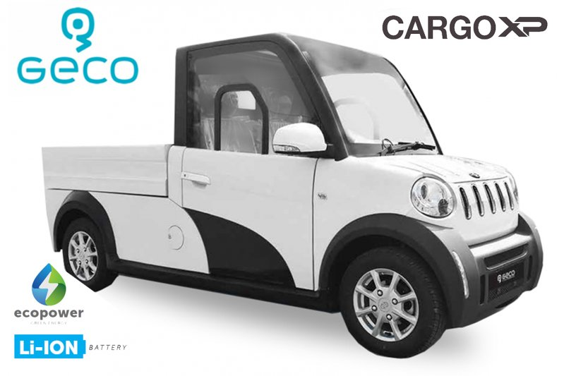 EEC Elektroauto Geco CARGO XP Pritsche 7.5kW brushless Motor inkl. 72V 140Ah Lithium Batterie Straßenzulassung Pickup
