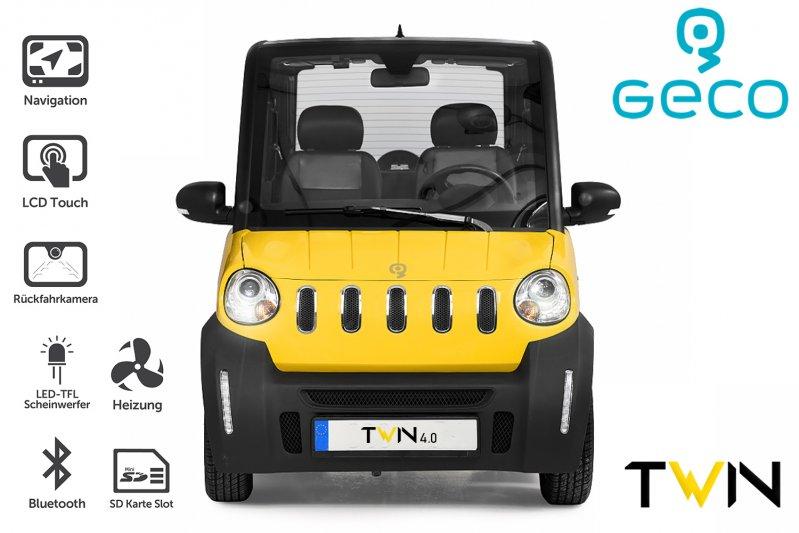 EEC Elektroauto Geco TWIN 4.0 3.5kW inkl. 60V 120Ah Batterien Straßenzulassung