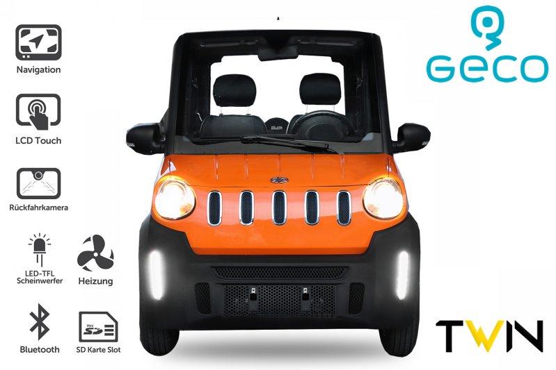 EEC Elektroauto Geco TWIN 8.0 7.5kW Drehstrom Motor inkl. 72V 100Ah Batterien Straßenzulassung
