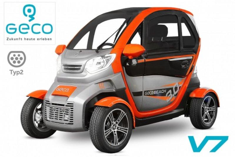 EEC Elektroauto Geco Beach 3000 V7 3kW inkl. Graphen Batterien Straßenzulassung